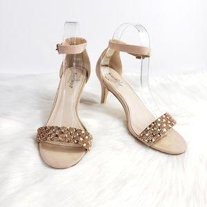 Bamboo Blush Glitter Sandals